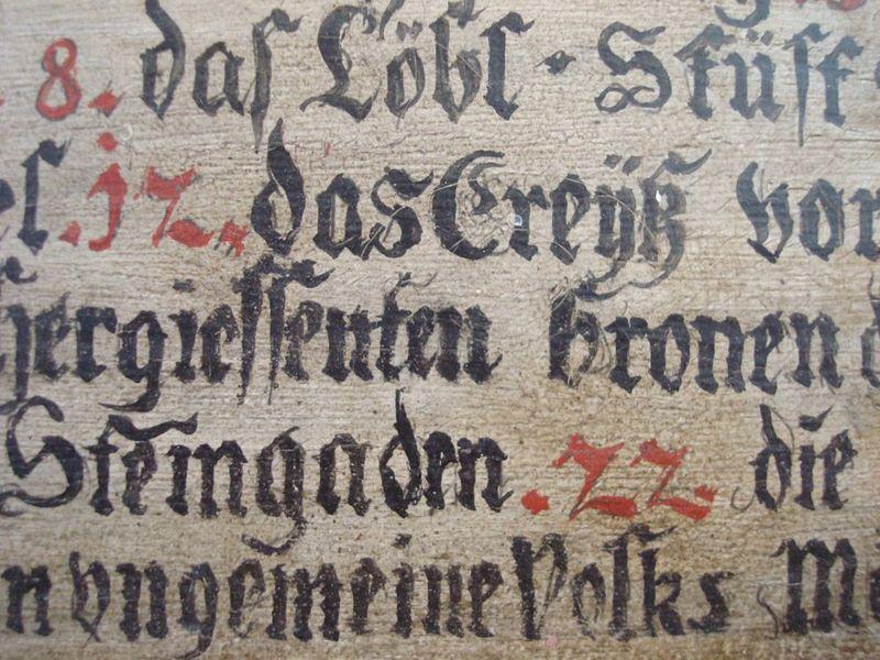 German calligraphy